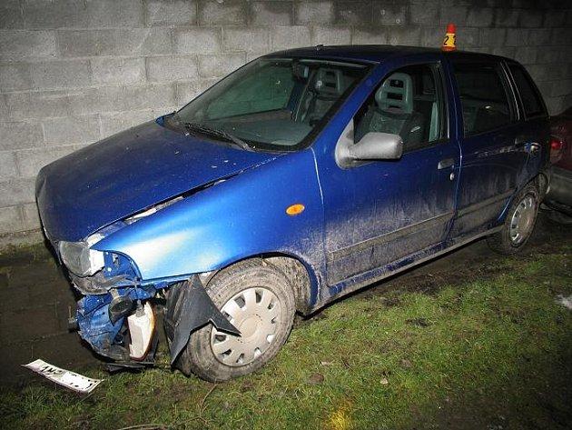 Opilá řidička bourala ve čtvrtek 5. února v Seloutkách na Prostějovsku.