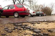 Parkování na sídlišti E. Beneše