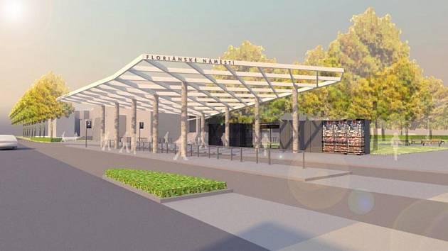 Vizualizace nového dopravního terminálu na Floriánském náměstí v Prostějově