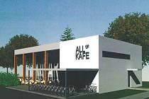 Vizualizace plánované kavárny v Kolářových sadech v Prostějově