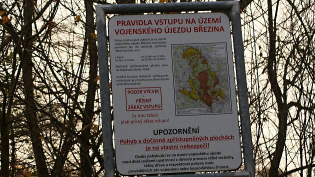 Vojenský újezd Březina
