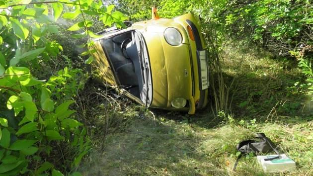 Nehoda řidičky Daewoo Matiz na D46