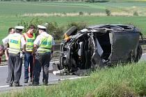 Nehoda za sjezdem na Vranovice-Kelčice