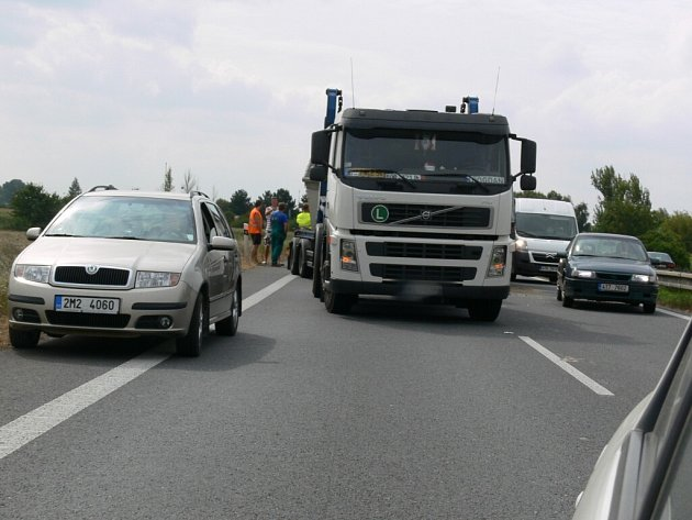 Kolona na dálnici. Ilustrační foto.