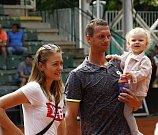 Filip Polášek s rodinou.