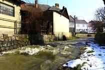 Rozvodněná Brodečka v Otaslavicích