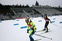 Sedmnáctiletý prostějovský biatlonista Ondřej Vystavěl se v kategorii B dokázal poprat i s muži.
