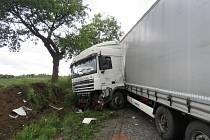 Bouračka kamionu u Vranovic-Kelčic