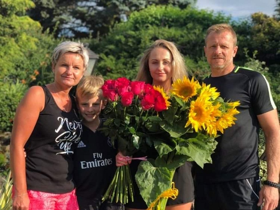 Patrik Müller s rodinou