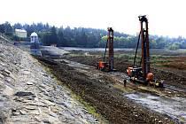 Vrtné soupravy na plumlovské přehradě