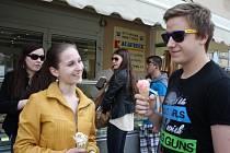 V Prostějově na zmrzlině