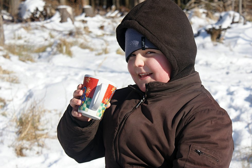 Zima u pramene Luhy a na nejvyšších partiích Drahanské vrchoviny - 15. 2. 2021
