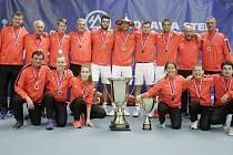 V Prostějově se konalo finále tenisové extraligy mezi domácím týmem a Spartou Praha.  TK Agrofert Prostějov