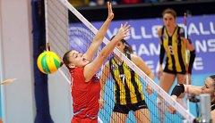 Vstupní zápas do Champions League žen 2017/18: VK Prostějov - Fenerbahce Istanbul.