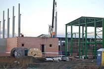 Průmyslová zóna v Prostějově - stavba elektrárny a nové výrobní haly