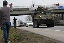 Kolem Prostějova projel v neděli odpoledne po R 46 americký vojenský konvoj