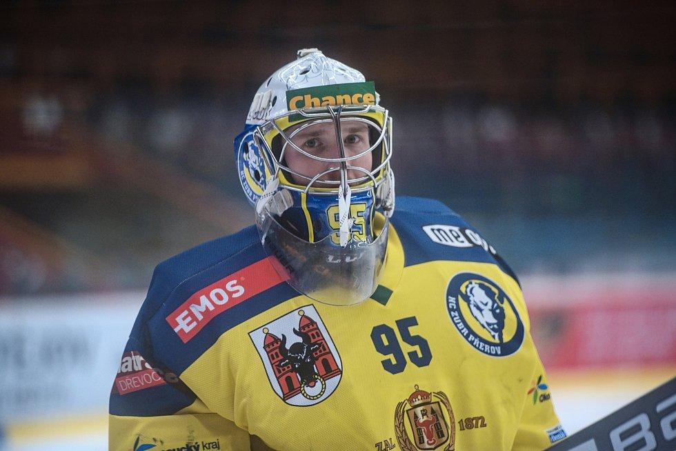 Hokejisté Prostějova v derby proti Přerovu.