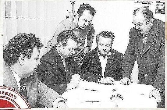 VOLEBNÍ KOMISE. Volby v roce 1976 v Těšeticích na Olomoucku.
