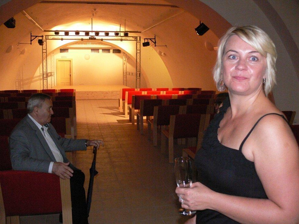 Zrekonstruované prostory pernštýnského zámku v Prostějově, které budou sloužit žákům a pedagogům literárně-dramatického a tanečního oboru Základní umělecké školy Vladimíra Ambrose.