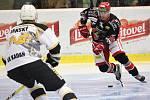 Hokejisté Prostějova (v černém) proti Kadani