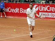 Závěrečný den prostějovského tenisové turnaje nabídl také exhibici zlatých olympioniků. Miloslav Mečíř