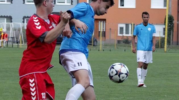 Fotbalisté Určic proti Brumovu