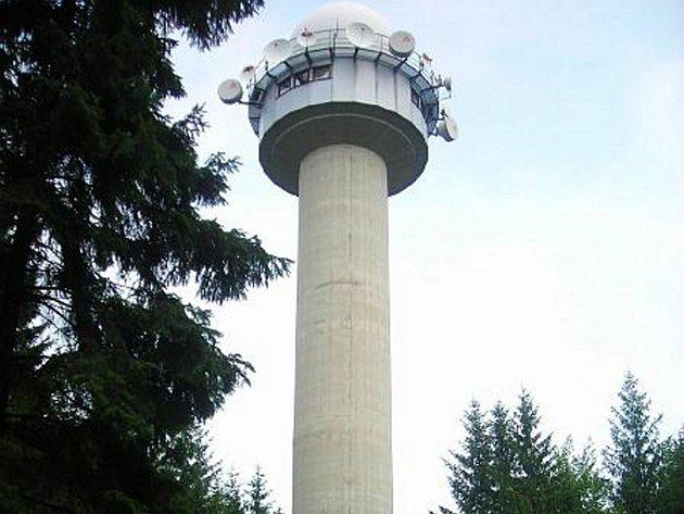 Meteorologický radar na vrchu Skalky u Protivanova