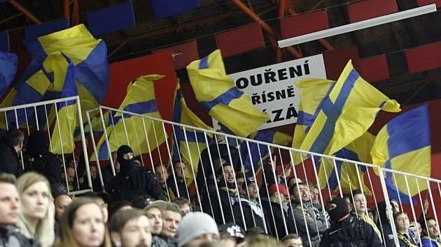 Fanoušci na utkání Prostějov vs. Přerov.
