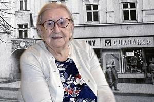 Jarmila Vincourková v červenci 2021. Někdejší majitelka vyhlášené prostějovské cukrárny Dvorských se dožívá 100 let