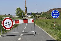 Uzavírka cyklostezky mezi Prostějovem a Kostelcem