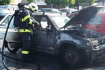 Zásah hasičů u prostějovského obchodního centra.