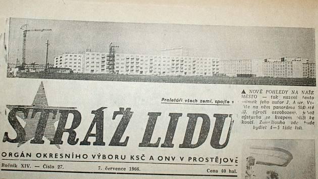 Výstřižek ze Stráže lidu z roku 1966