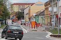 Rozkopaná Kostelecká ulice v Prostějově. Ilustrační foto