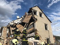 Výbuch v rodinném domě v Mostkovicích