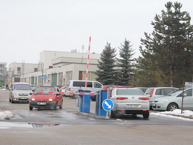 Parkování uprostějovské nemocnice
