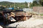 Výstavba dvou nových mostů v Ptenském Dvorku na Prostějovsku