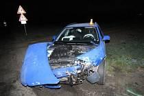 Nehoda mezi Mostkovicemi a Smržicemi skončila lehkým zraněním