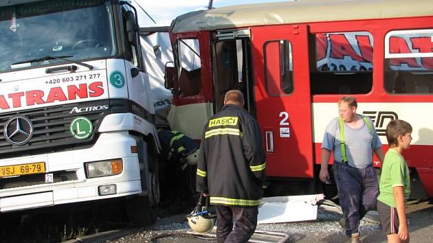 Havárie se stala na výjezdu z pily Javořice.