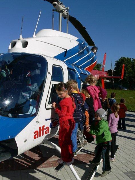 Slavnostní otevření heliportu vProtivanově