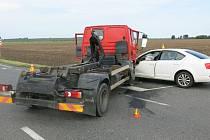 Dopravní nehoda u Kralic na Hané. 7.9.2020