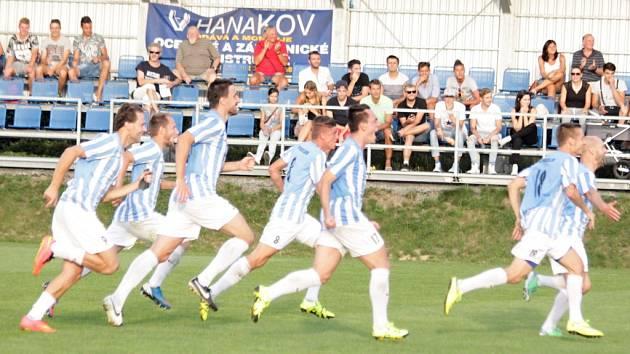 Fotbalisté 1. SK Prostějov. Ilustrační foto