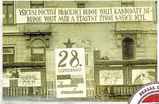 U RADNICE. Volby v Litovli v roce 1954.