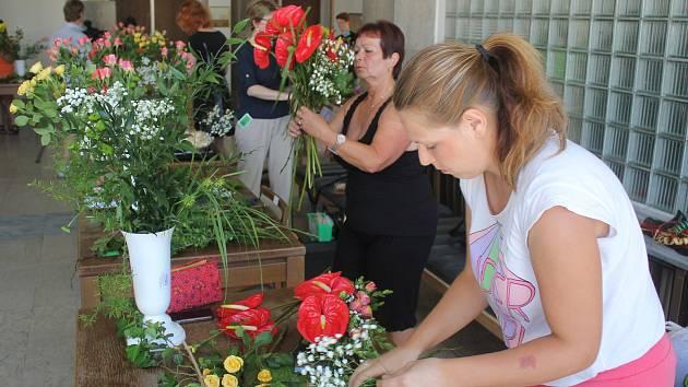 Floristická soutěž v prostějovském Společenském domě