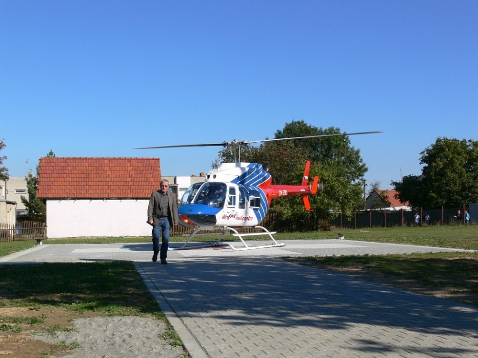 Heliport v Protivanově