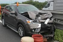 Dopravní nehoda na 30. kilometru D46 u Olšan u Prostějova