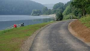 Plumlovská přehrada 27. 6. 2020 - jízda po cyklostezce a momentky z přehrady