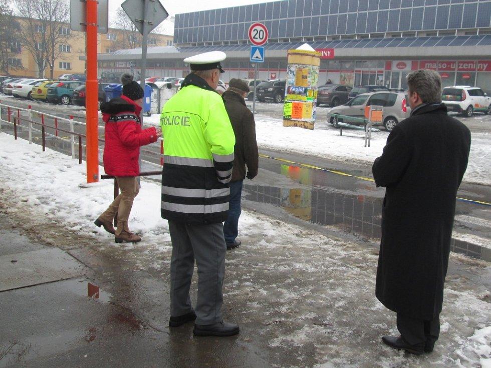 Otevření bezpečnějšího přechodu u prostějovské ZŠ Dr. Horáka