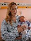 Vítek Pospíšil s maminkou Monikou, Přemyslovice, narozen 13. února, 47 cm, 2750 g