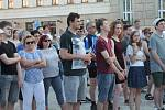 Demonstrace proti Andreji Babišovi na náměstí T. G. Masaryka v Prostějově - 11. 6. 2019