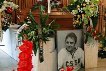 Rozloučení s Oldřichem Machačem v prostějovské obřadní síni